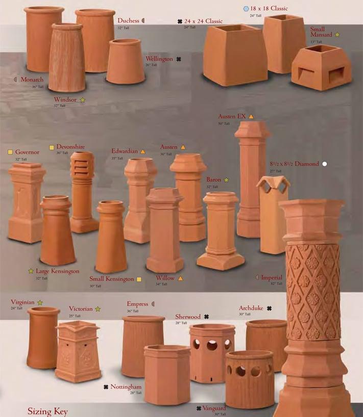 Decorative Clay Pipe : Clay chimney pots