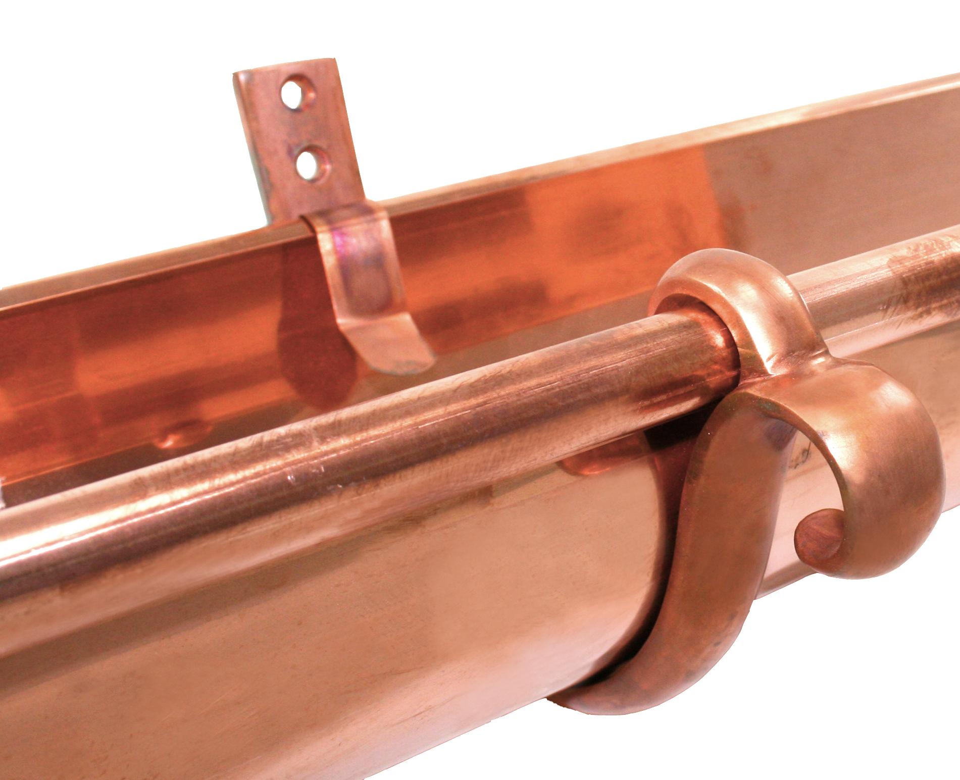 double curl copper gutter hanger