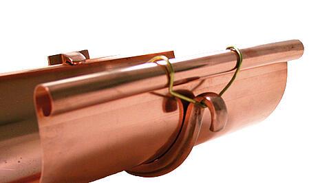 Single Curl Half Round Copper Gutter Hanger
