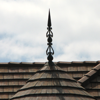 Double Scroll Finial