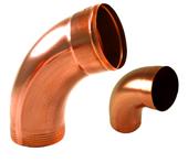 copper downspout elbows