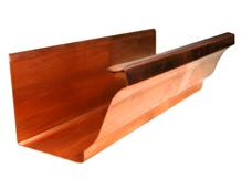 Copper K Style Ogee Gutter