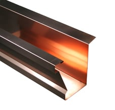 Tiburon Copper Gutter