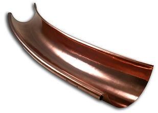 Radius Half Round Copper Gutters