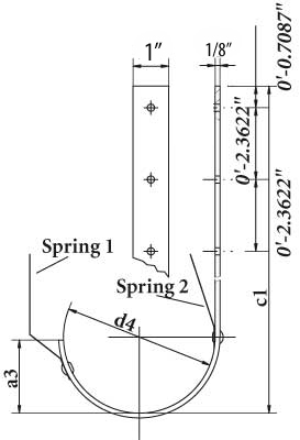 roof mounted gutter hanger DWG
