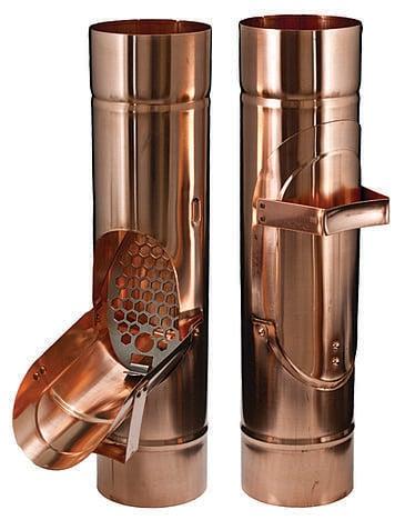 Copper Downspout Cleanout