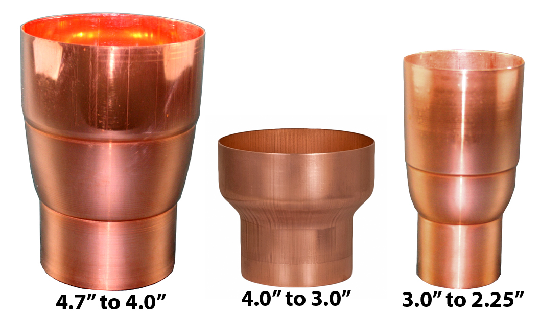 Copper Downspout Reducers
